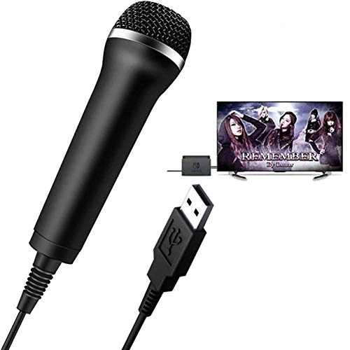 Elyco USB Mikrofon Kompatibel mit Nintendo Switch/Windows PC/WII U/PS4, leistungsstarkes Karaoke-Mikrofon für Let's Sing/We Sing/Singstar/Just Sing/Guitar Hero/Rock Band und Andere Singspiele