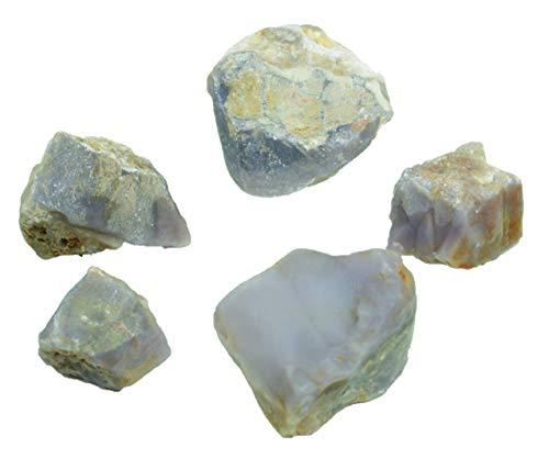 Steinfixx Chalcedon Rohstein I Edelstein I Heilstein I 100% unbehandelt und naturbelassen (400-500gr)