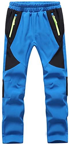 BenBoy Kids Hiking Pants Snow Ski Outdoor Waterproof Softshell Fleece Warm Insulated Snowboard Pants...