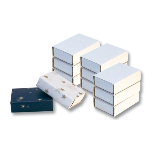 Folia Streichholzschachteln, weiß, unbedruckt, leer, 10 Stück
