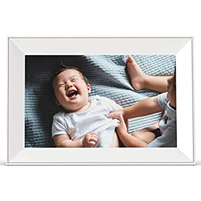 Aura Carver Smart Digital Picture Frame 10.1 Inch HD WiFi Cloud Digital Frame Free Unlimited Storage Easy Setup to Send Photos Remotely Via App More Secure Than Email by Aura Home, Inc.