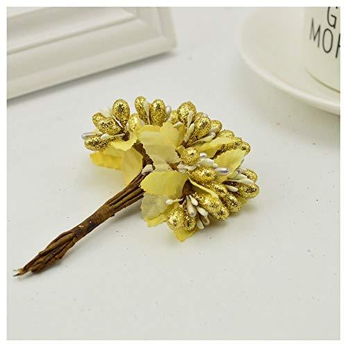 KAERMA 10 stks diy scrapbooking decoratie kunstbloem slinger boeket spruit stam bacca bes bloem voor bruiloft mooie bloem