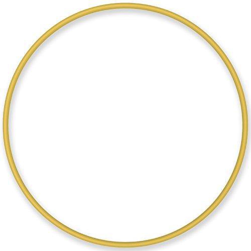 NiroSport Hula Hoop Reifen Aluminium Gymnastikreifen Fitnessreifen, 90 cm (Gelb)