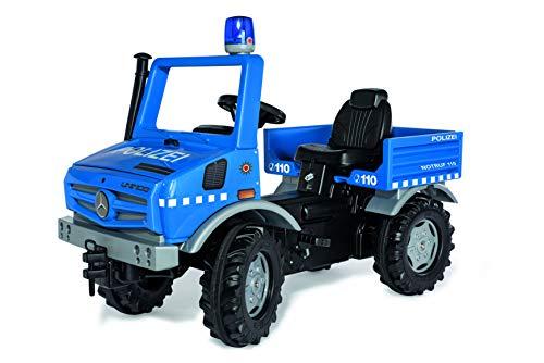 Rolly Toys- RollyUnimog Polizii Edition 2020-Bicicleta Infantil con Pedal, Incluye luz RollyFlashlight, Asiento Ajustable, neumáticos silenciosos. (038251)