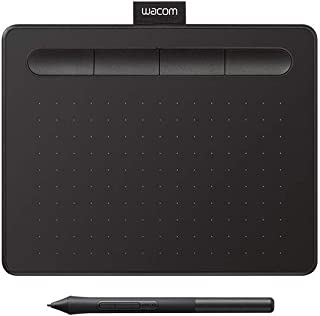 "Wacom CTL4100 Intuos Graphics Drawing Tablet with 3 Bonus Software Included, 7.9""x 6.3″, Black"