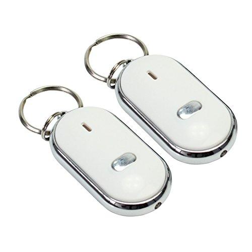 Pinzhi 2pcs LED perdu Key Finder Locator Porte-clés Whistle Sound Control Alarme NEUF