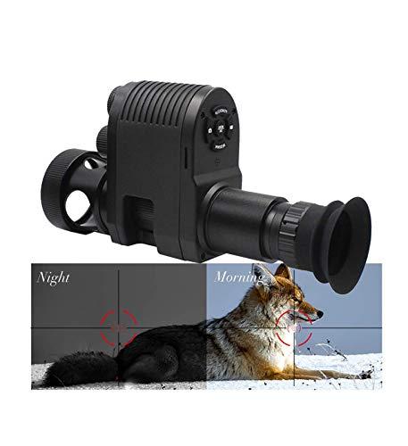 LXYFMS Los alcepes integrados de rifle HD de 720p integrados son los ámbitos de la pistola de la visión nocturna a prueba de golpes únicos con la linterna IR incorporada de 850nm infrarrojos y la pant