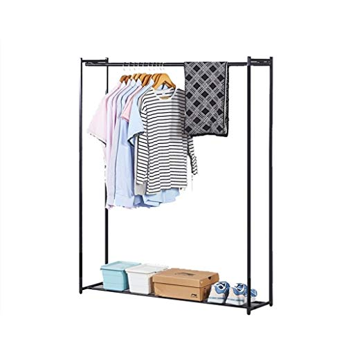 CSQ-Wall Coat Racks Horizontal Bar Clothes Rail, Vertical Metal Clothing Display Stand Simplicity Floor-Standing Coat Racks Multifunction Storage Shelf Clothes Shelves