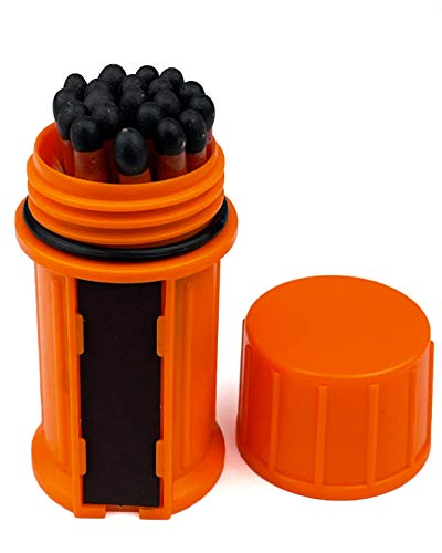 Stormproof Waterproof Matches Survival kit for Camping, Hiking- Windproof Match with Watertight Case...