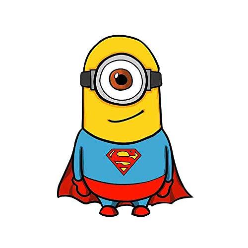 Minions Superman Coche Parachoques Ventana Pared Maleta Calcomanía Pegatina Calcomanías Decoración Diy(Juego De 2)