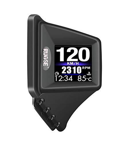 Universelles HUD-Auto Heads Up Display Duales System, aufgerüstetes OBD 2/GPS A-Säulen-Armaturenbrett installiert Fahrzeug-Tachometer Motordrehzahl Überdrehzahlwarnung
