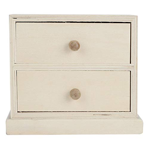 Rodipu Joyero, Elegante y Hermosa Caja de Almacenamiento, con cajones Práctico Simple para el hogar Organizador de Documentos Almacenamiento de Joyas de Oficina