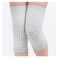 自己発熱サポートニーパッド関節炎関節の痛みを軽減暖かい膝パッドブレース加傷害回復ベルト膝1pair ショックに効果的に抵抗し、血液循環を増加させます (Color : Grey, Size : M)