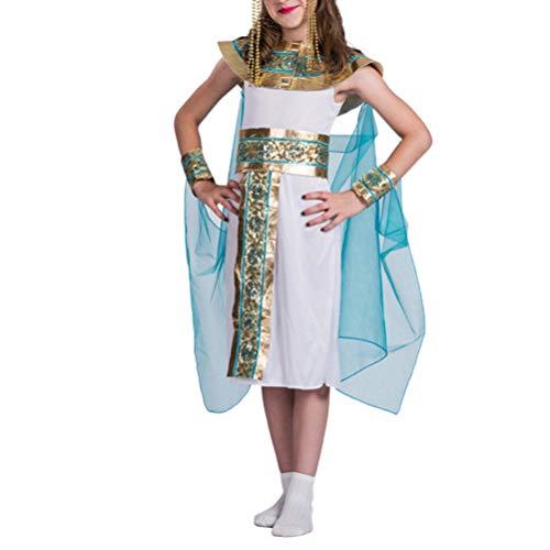 TOYANDONA Disfraz de Cleopatra para Niñas Disfraz de Prince