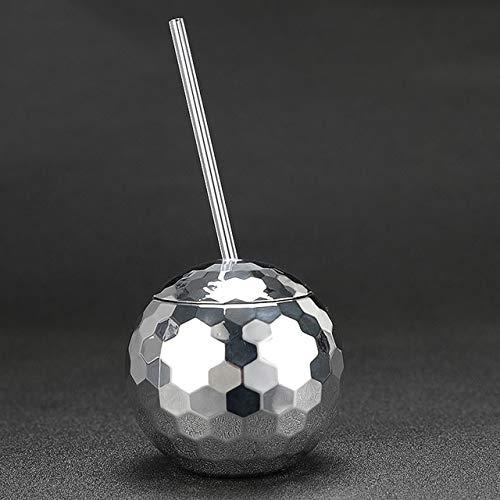 Kreative Disco Flash Ball Cocktail Glas Nachtclub Bar Party Taschenlampe Stroh Weinglas Getränk Sirup Tee Mate Flasche580mlWie abgebildet