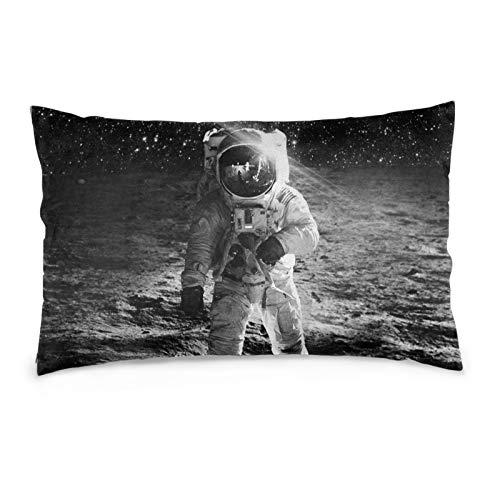VVSADEB Funda de almohada Astronaut Space 50 x 70 cm, funda de almohada con cremallera, suave y acogedora, arrugas, tamaño estándar 1 paquete