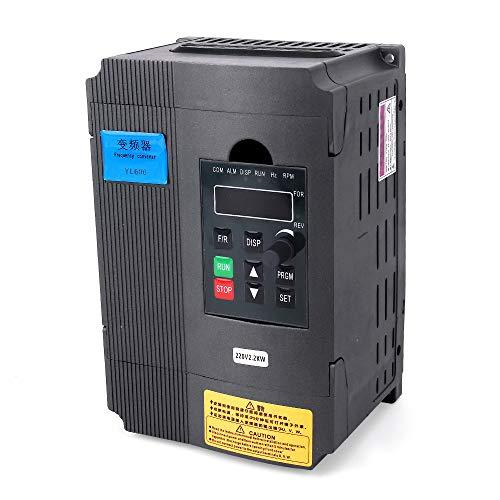 Yofuly Frequenzumrichter, 220 V, 2,2 kW, 3 PS, für Spindel-Motorantrieb