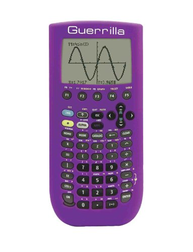 Guerrilla Silicone Case for Texas Instruments TI-89 Titanium Graphing Calculator, Purple