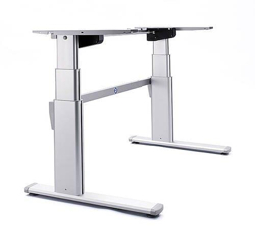 Ergobasis elektrisches Tischgestell 2020, stufenlos höhenverstellbar von ca. 63-128 cm, breitenverstellbar, 2 Motoren als ergonomisches Schreibtischgestell, für Tischplatten geeignet bis 200x100 cm
