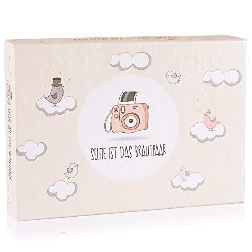 Hochzeitsspiel: Selfie ist das Brautpaar – Box mit kreativen und lustigen Fotoaufgaben – Tolles Spiel für Gäste oder Geschenkidee für das Brautpaar