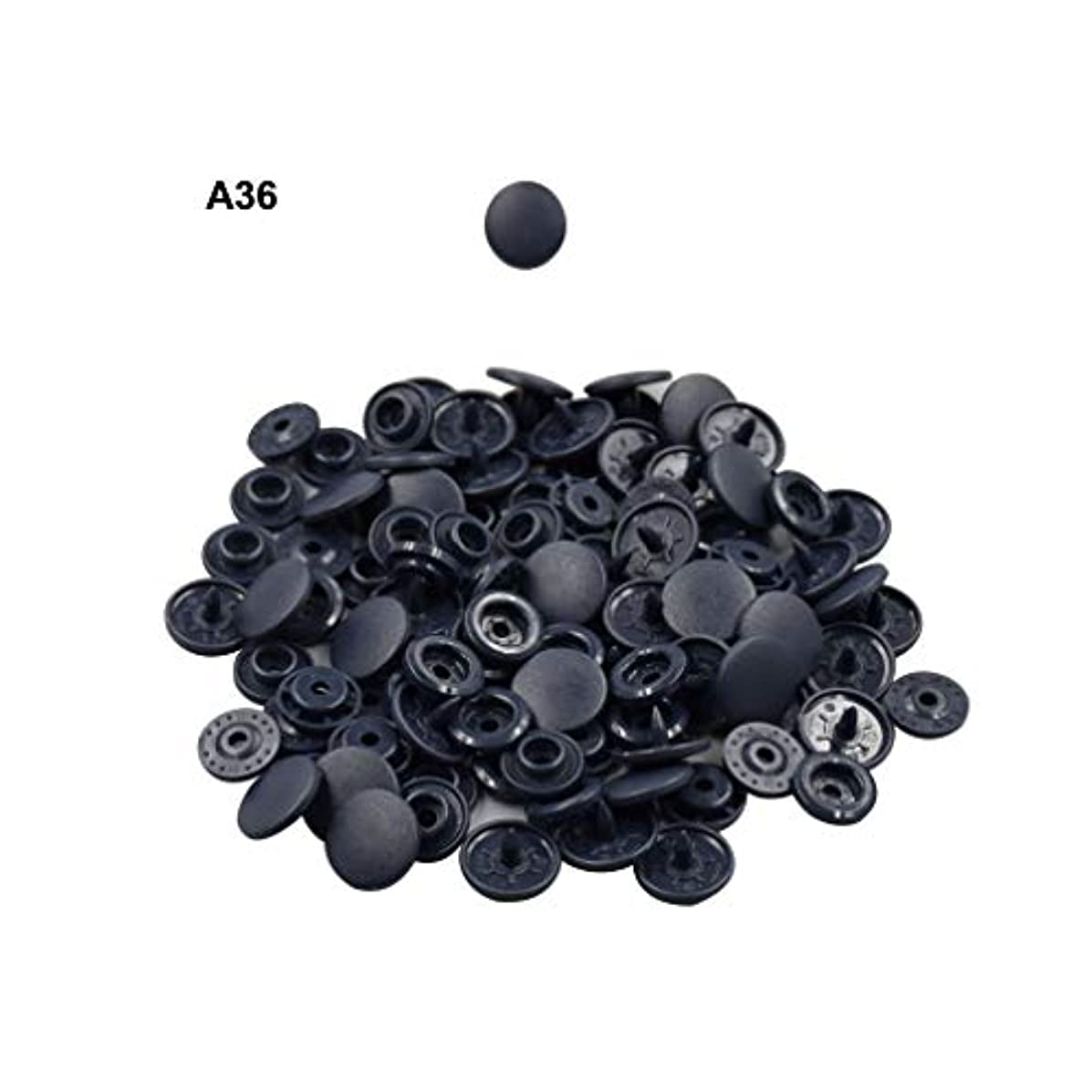 Blue Black Plastic Snap Fasteners Size 20 100Sets Snap On Clothing Plastic Snap Button Matte T5 Round for Baby Clothes -A36