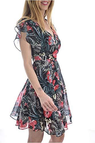 Guess Damen Vera Dress Lässiges Kleid, Multicolore, L
