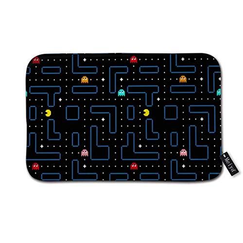 Pacman - Felpudo con diseño de arcade para juegos retro con fondo antideslizante para baño, 40 x 60 cm