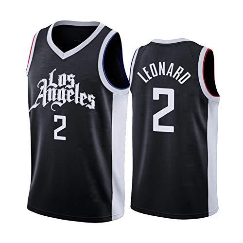 DWQ Jersey de Baloncesto para Hombres, Clippers # 2 Leonard City Edition Basketball Jersey, Ropa Deportiva sin Mangas Unisex (S-XXL) S