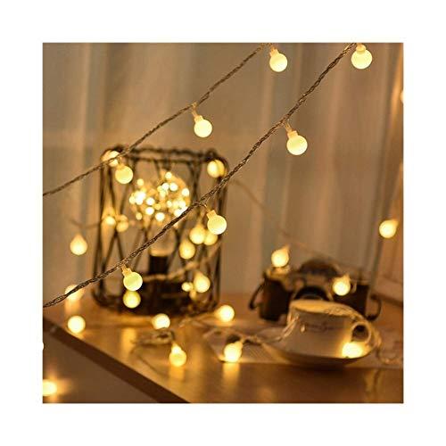 A-myt romántico y cálido Guirnalda 3m 5m 10m AA Batería LED Bola Cadena Navidad Limpie la Guirnalda Interior en Las baterías Luz de la decoración de la Boda Vistoso