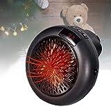 BIWAHumor Mini Ventilador De Calefacción para El Hogar, Máquina De Radiador De Estufa para Invierno, Accesorios De Pared De Plomo De Potencia Extralargos Incluidos para Hogares De Interior Y Exterior