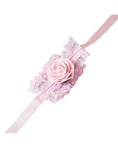 12X Bracciali per matrimonio, sposa, damigella d'onore, addio al nubilato, party, Rosa