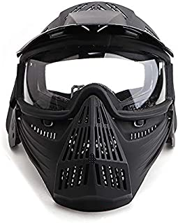 Senmortar Paintball Mask Airsoft Masks Full Face Tactical Protection Gear with Glasses for Halloween BBS CS Game Costume Accessories Motocross Skiing