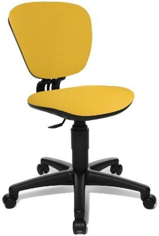 Topstar Kinder Bürostuhl Drehstuhl HIGH Kid Stoff schwarz gelb
