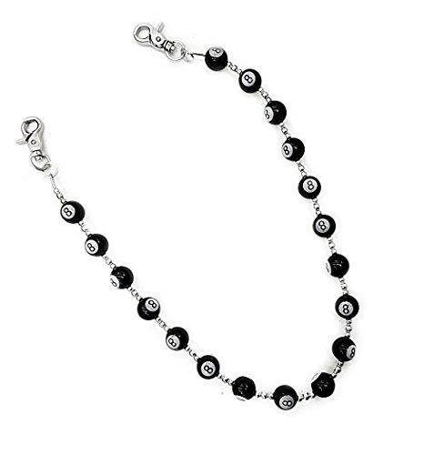 AKKi jewelry Akkki Hosenkette mit Billiard Kugel Börsenkette Biker portmone Jeans Kette Schlüsselkette Wert #1