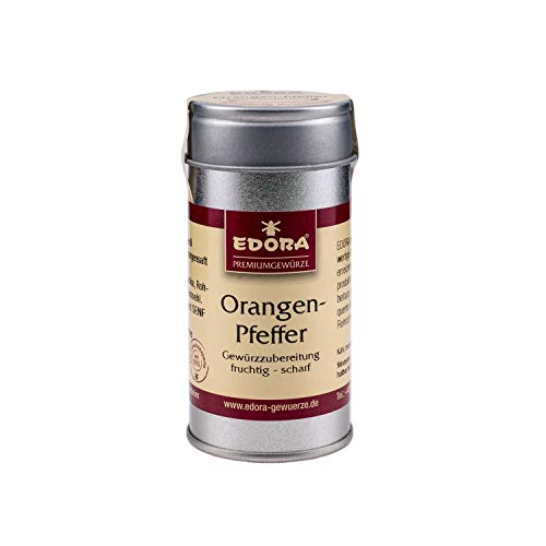 Premium Qualität Gewürz EDORA Streudose Streuer Orangen Pfeffer Gewürzzubereitung fruchtig scharf 40 Gramm
