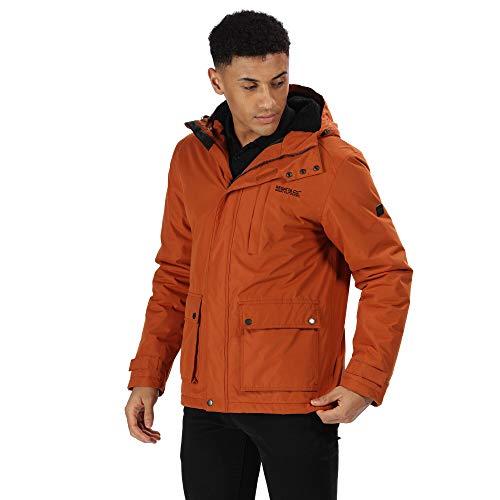 Regatta Herren Sterlings Waterproof Sherpa Fleece Lined Hooded Parka Jacket wasserdichte, isolierte Jacke, Gebranntes Umbra, XL