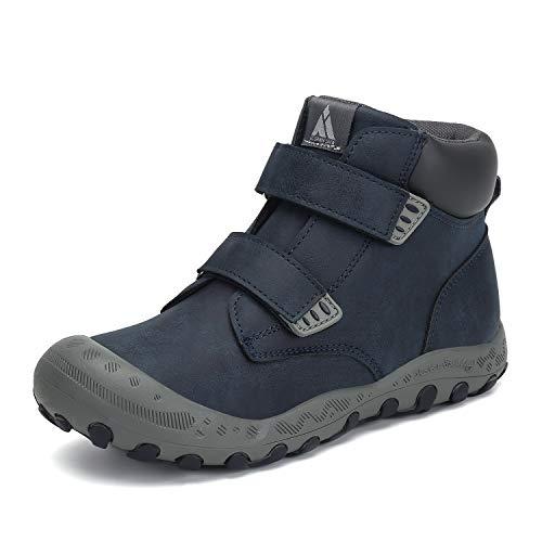 Mishansha Kinder Trekkingschuhe Jungen Wanderschuhe Outdoor rutschfeste Mädchen Sneaker Freizeit Schuhe für Sport Hiking Walking Blau 26 EU