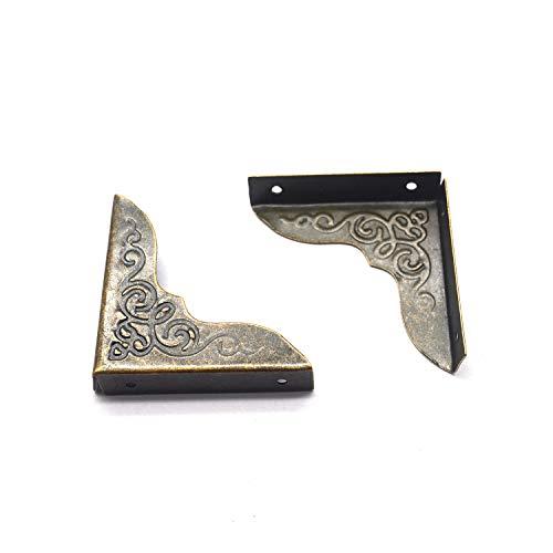 Metal Box Corner Protector Karcy Box Edge Cover 1' Decorative Bronze Corner Protectors with Mounting Hardware Set of 12