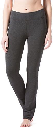 Fishers Finery Women s Ecofabric Straight Leg Yoga Pant HTHR Gry M Tall Heather Gray product image