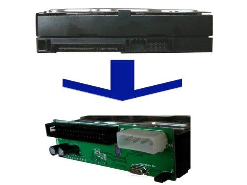 Kalea-Informatique© – Convertitore SATA I o II a NAPPE IDE – Chipset JMICRON – per collegare un dispositivo SATA al posto del suono equivalente al vecchio standard IDE.
