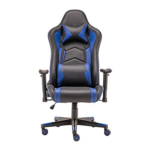 Silla de oficina Home Multifuncional Fashion Racing Asiento cómodo y hermoso Silla de oficina (Color : Black and blue)