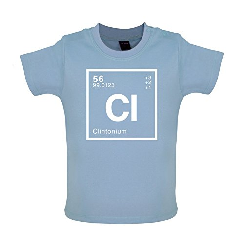 CLINTON - Periodic Element - Baby / Toddler T-Shirt - Dusty Blue - 12-18 Months