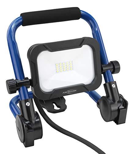 ANSMANN bouwlamp LED 10W – werklamp met kleurechte weergave CRI > 80, werklamp IP54 weerbestendig, voet met statief montagevoorziening