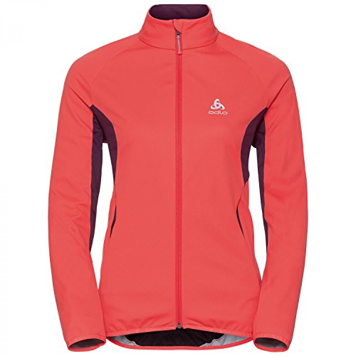 Odlo Stryn Blouson Femme, Hot Coral/Pickled Beet, FR (Taille Fabricant : XL)