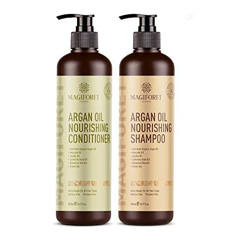 Argan Oil Shampoo and Conditioner Set (2 x 16.9 Oz) - MagiForet Organic Shampoo & Conditioner...