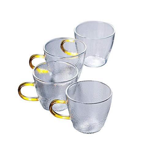 PIONIN - Tetera de Cristal con Filtro Revestido, para el hogar, para el día de San Valentín, Cristal de borosilicato
