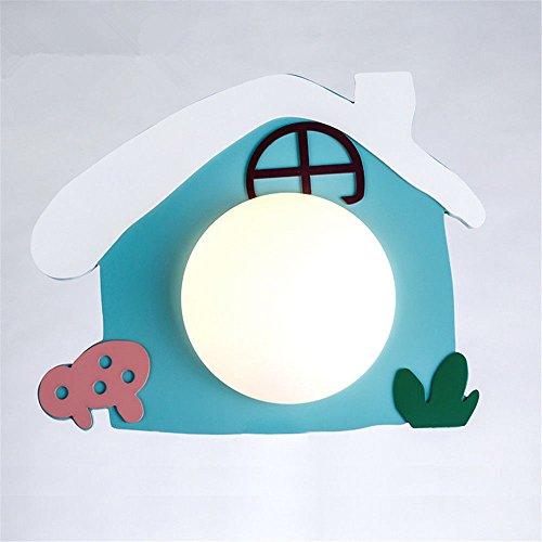 JJZHG Wandlamp Wandlamp Huis voor kinderen creatieve kinderkamer jongen meisje slaapkamer nachtlampje warme schattige decoratie omvat: wandlampen, wandlamp met leeslampje