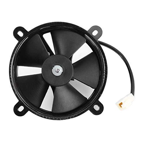 Qqmora Ventilador de refrigeración de radiador Duradero eléctrico ABS Práctico 12V para...