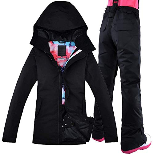 Ski Suit 2019 Vrouwen Ski Suit Thermoskiën Snowboard Waterdicht Winddicht Outdoor Sportswear Jacket Pant Super Warm Kl XS Kleur 1