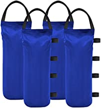 Eurmax 112 LBS Extra Large Pop up Gazebo Weights Sand Bags for Ez Pop up Canopy Tent Outdoor Instant Canopies,Sand Bags Without Sand, 4-Pack,Blue